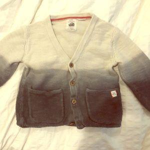 Preloved Zara cotton button sweater, 18-24m